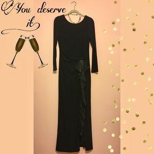 Betsy & Adam Long Black Dress